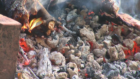 camp fire 2 Stock Video Footage