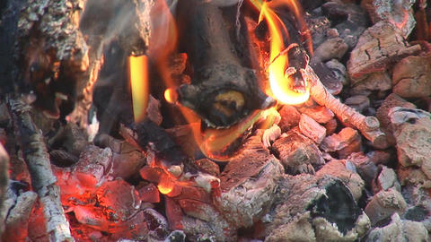 camp fire 4 Stock Video Footage