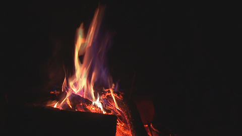 camp fire 10 Stock Video Footage