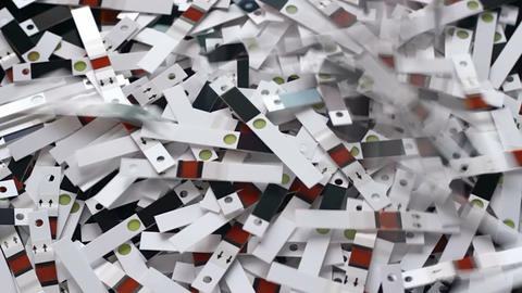 Used test strips Stock Video Footage