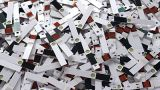 Used Test Strips stock footage