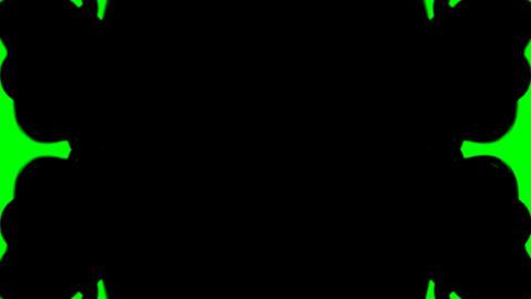 Ink Blot Chroma Key Stock Video Footage