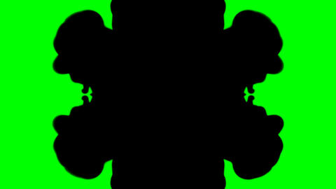 Ink Blot Chroma Key Stock Video Footage