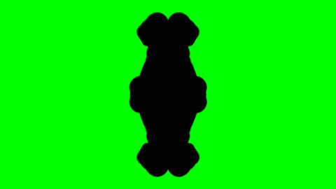 Ink Blot Chroma Key Footage
