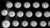 Old Fashioned Typewriter stock footage