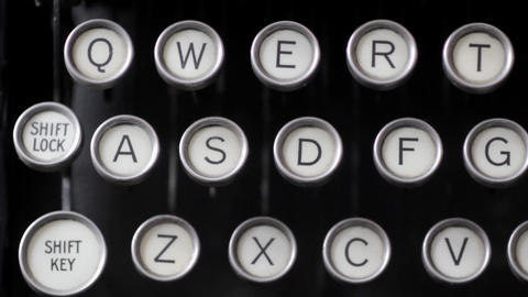Old Fashioned Typewriter Footage