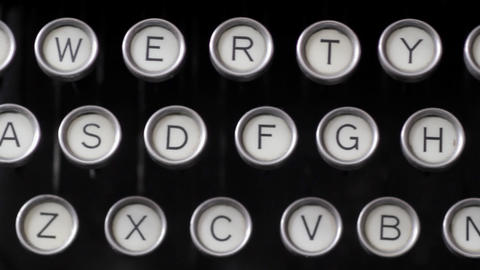 Old Fashioned Typewriter Stock Video Footage