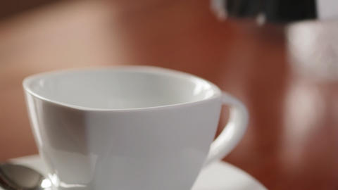 Pouring Coffee CU Stock Video Footage