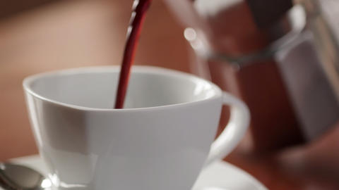 Pouring Coffee CU, Live Action