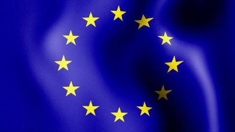 waving euro flag Stock Video Footage