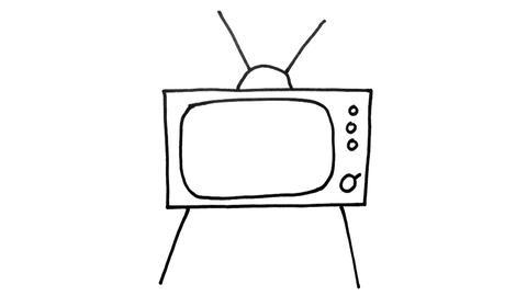 Green Screen Cartoon TV Zoom Stock Video Footage