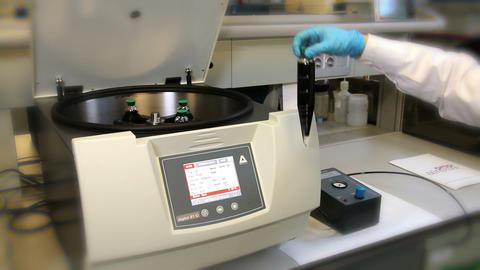 Centrifuge Liquid Sample Separation Labs 02 stock footage