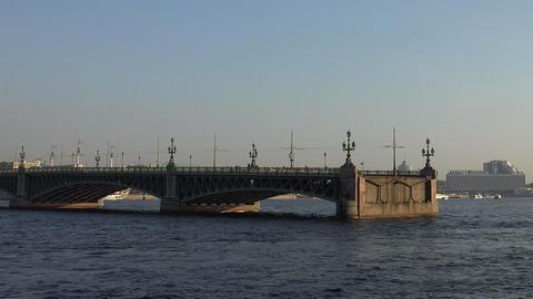 Divorce Trinity Bridge in St. Petersburg in the af Footage