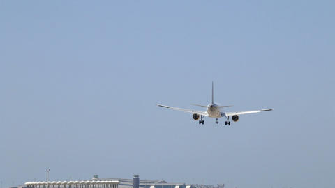 Commercial Plane Landing stock footage