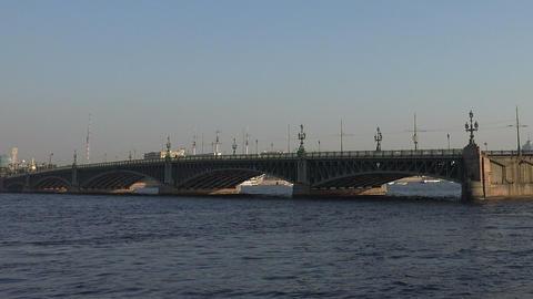 Divorce Trinity Bridge In St. Petersburg In The Af stock footage