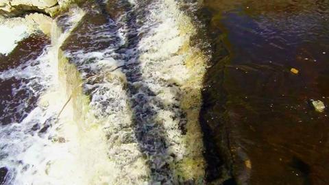 Waterfall In Rocky Shore stock footage
