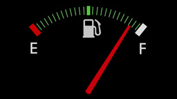 Fuel gauge full-empty-full car dashboard meter Animation