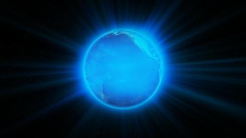Blue Shiny Earth, loop Animation