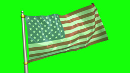 US Flag Attached To Pole Resting Than Fast Waving stock footage
