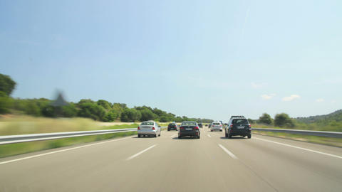 Day Highway Camera Car Time Lapse High Speed Footage