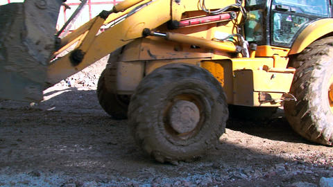 Work Bulldozer Carrying Sand Live Action