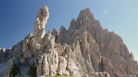 4k UHD tilt to monolith and paternkofel summit 115 Footage