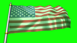 United States Flag Waving Attached To Silver Pole stock footage