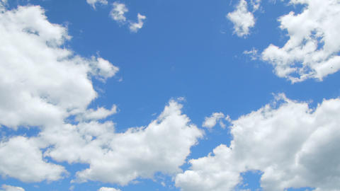 White Summer Cotton Clouds stock footage