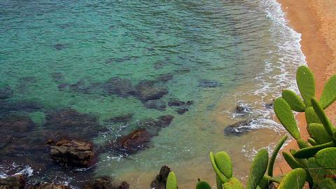 Turquoise Mediterranean Beach Leisure Time Footage