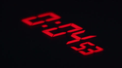 Clock Digital Red Countdown stock footage