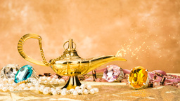 VID 206 magic lamp on gold hd Footage