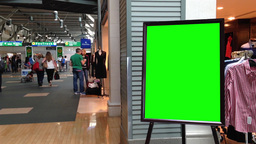 Green billboard for your ad Live Action