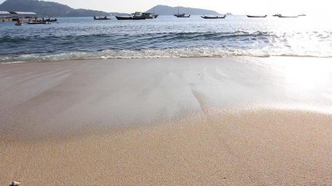 Tropical beach and sea wave Footage