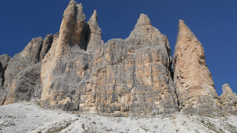 4k UHD people hiking dolomites alps tre cime 11510 Footage