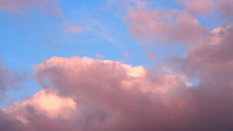 Pink clouds, Short time lapse motion Footage