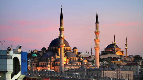 Prayer time in Istanbul Footage