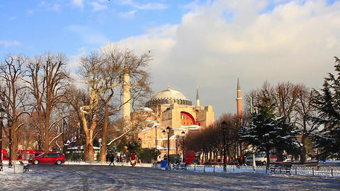 Hagia Sophia in Winter Footage