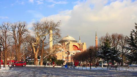 Hagia Sophia in Winter Footage