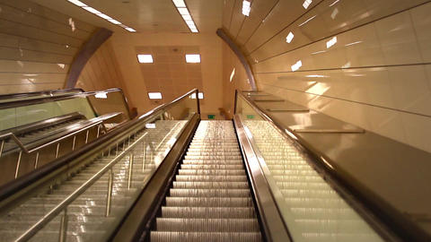Perspective of escalator Footage