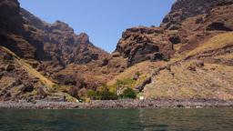 Barranco de Masca on Tenerife, Canary Islands Footage