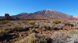 Teide Peak in Teide National Park, Canary Islands, Footage