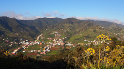 Anaga Mountains from the hill near La Laguna on Te Footage
