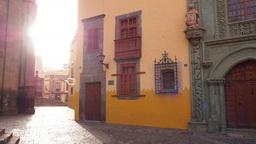 Columbus House in Vegueta District of Las Palmas d Live Action