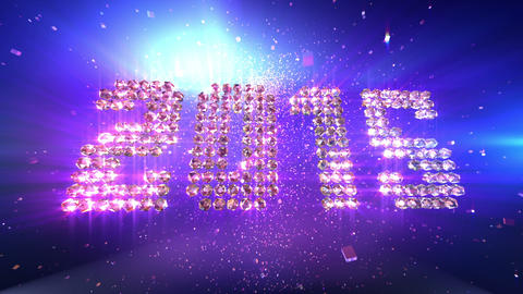 New Year 2015 Background Animation Stock Video Footage