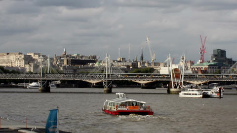 Ferry cruises on the river Thames 2 Footage