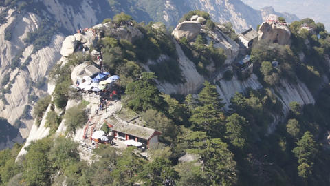 Huashan mountains landscape 02 Footage