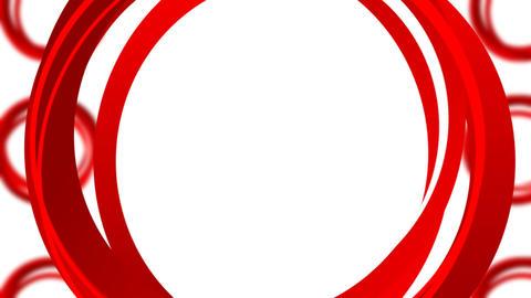 Red Circles Loop stock footage