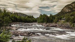 1080p, Epic And Dramatic Time Lapse Of Buskerud Ar stock footage