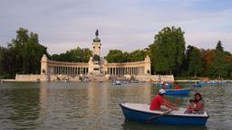 Parque del Retiro - Retiro Park in Madrid Footage