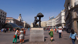 Puerta del Sol – Sol Square in Madrid Footage